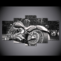HD Printed Motorcycle Bike Balck Painting Canvas Print Room Decor Print Poster Picture Canvas Free Shipping