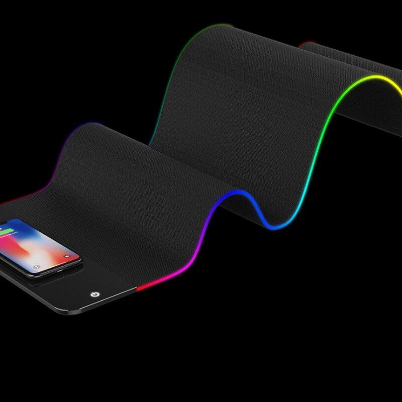 Tapis de souris 2 en 1 chargeur sans fil tapis de souris lumineux chargeur rapide pour bureau Gamer S288