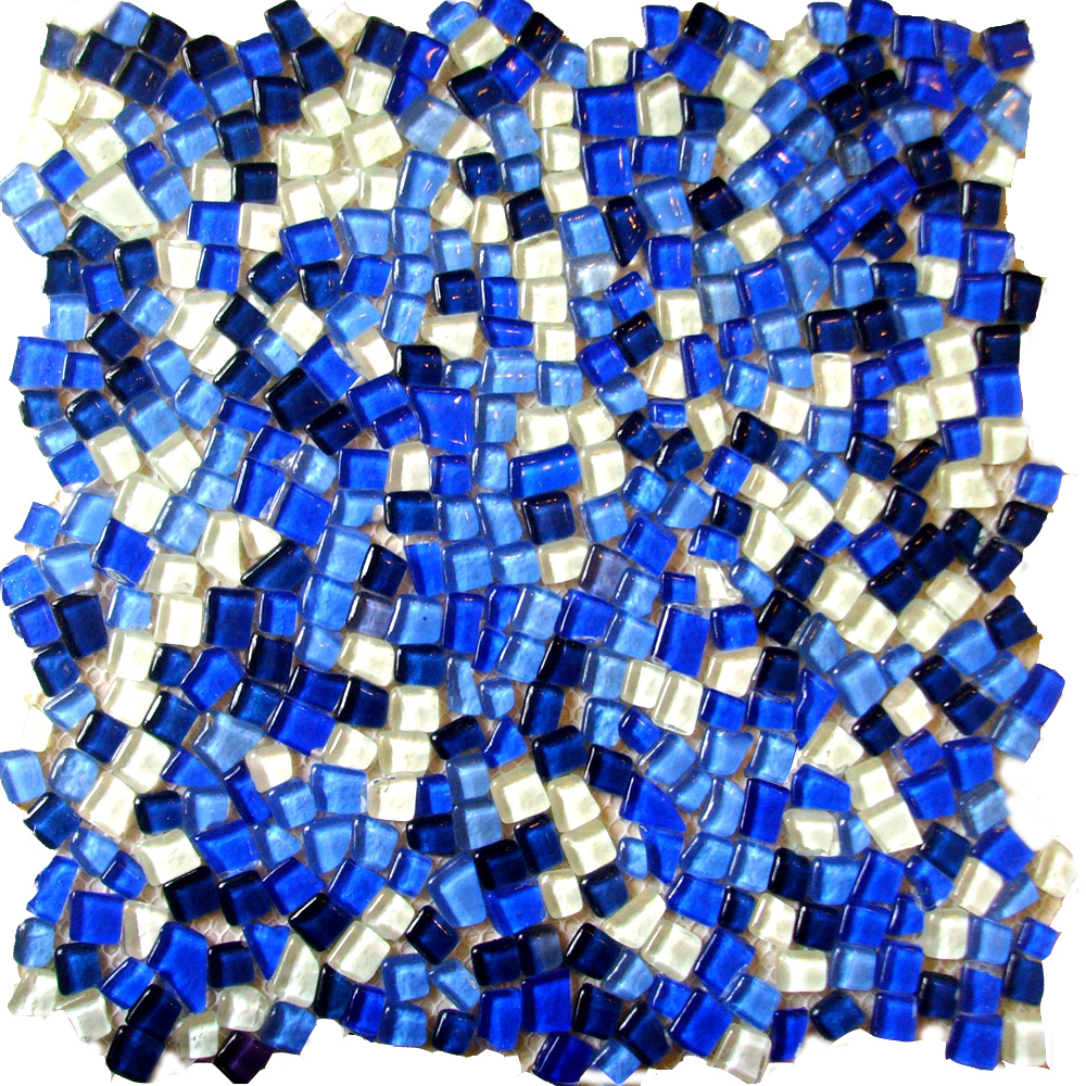 lovely mini square blue crackle glass mosaic crrystal tiles for ...