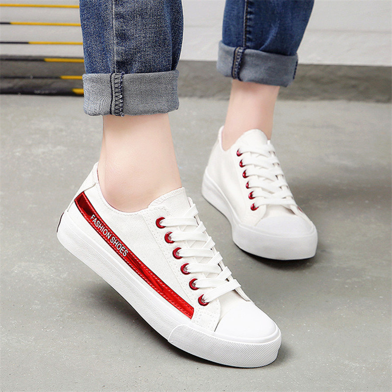 Women's Spring autumn Punk cool vulcanized shoes canvas shoes flat shoes for casual shoes students 2018 new fashion  - buy with discount