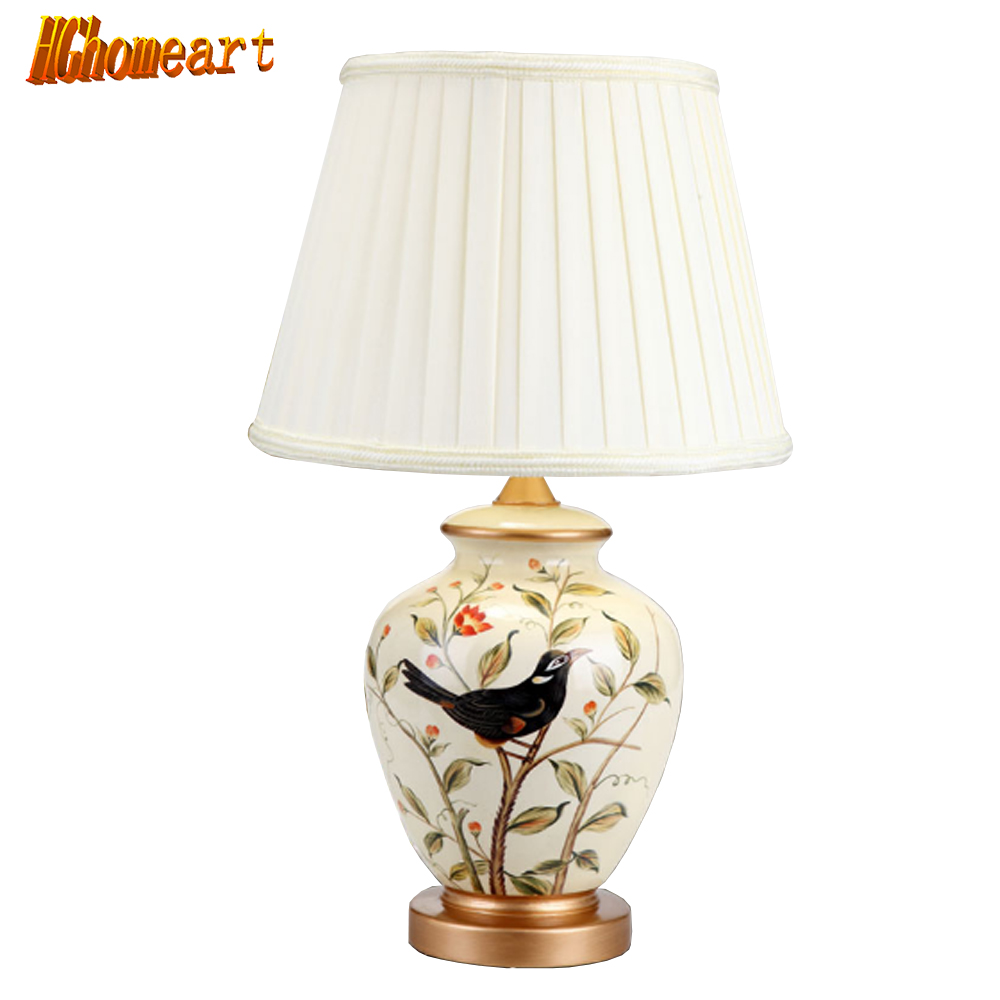 Ceramic Table Lamp Bedroom Bedside Lamp European Style