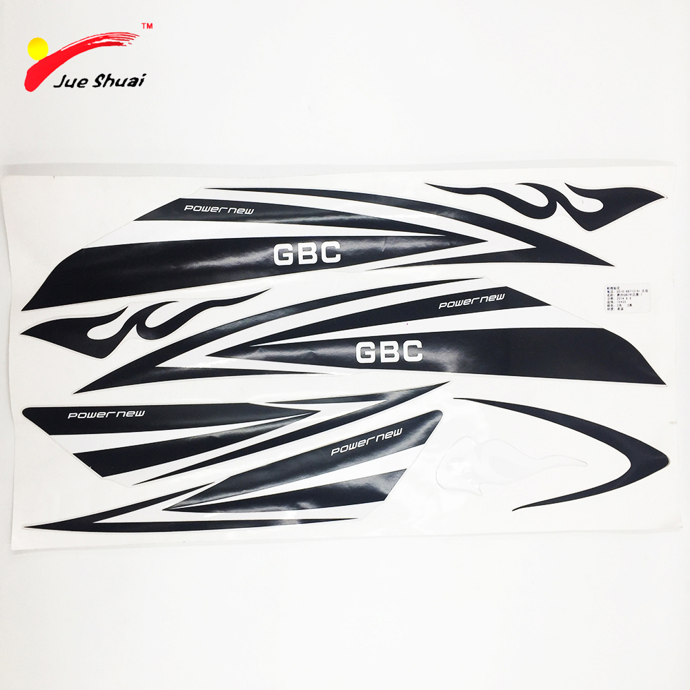 JS 34*21cm PVC Bicycle Sticker Road Mountain Bike Cycling Electric Bicycle Stickers Reflective Soprts Decal Waterproof Paste
