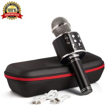 Mikrofon do karaoke bezprzewodowy z głośnikiem Bluetooth Instagram 5000 + lubi iPhone android pc Smartphone przenośny mikrofon ręczny tanie i dobre opinie GEMJADE Mikrofon pojemnościowy Karaoke mikrofon Pojedyncze Mikrofon Dookólna wireless WS-858