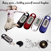 Sales Promotion 1pcs AAA Battery USB Digital Mp3 Players With 4GB Memory Voice Recorder FM Radio