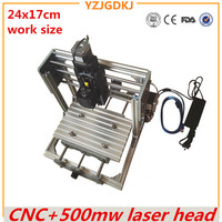 CNC 2417 GRBL Control Diy High Power 500mw Laser Engraving CNC Machine 3Axis Wood Router With
