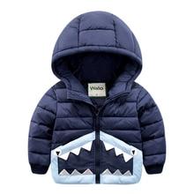 2016 новый зимнее пальто куртки Мальчик Новый Ребенок Куртка С Капюшоном ребенок теплая зима хлопок утолщенной