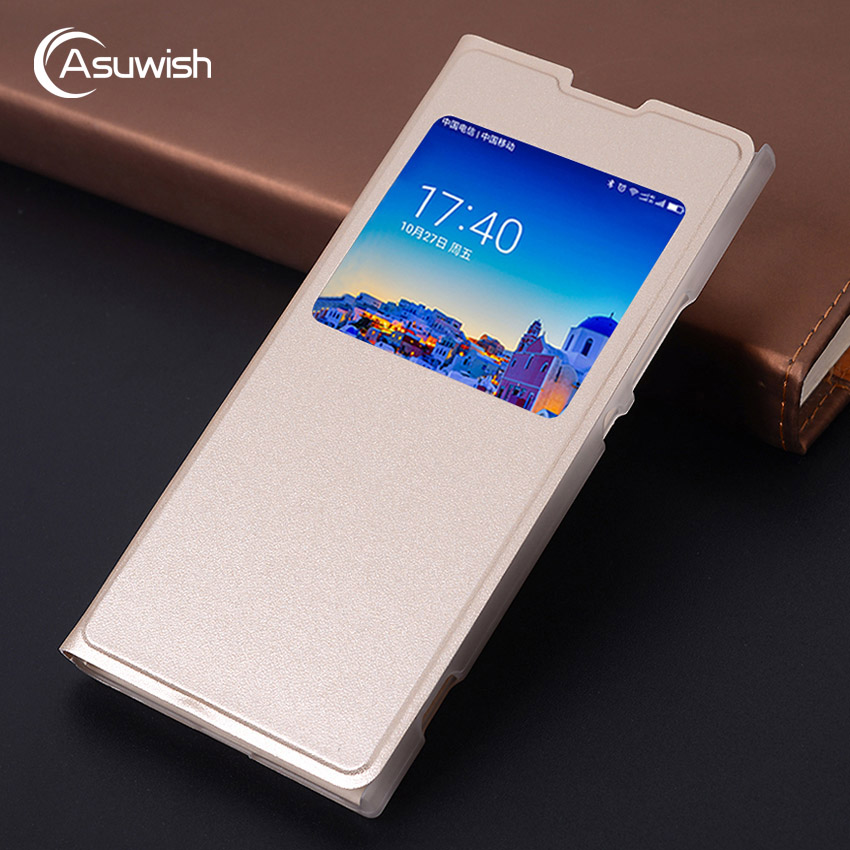 Asuwish Flip Cover Leather Case For Sony Xperia XA1 Ultra XA2 Ultra L1 L2 L XA 1 2 Dual G3112 G3312 H3311 Phone Case Cover View