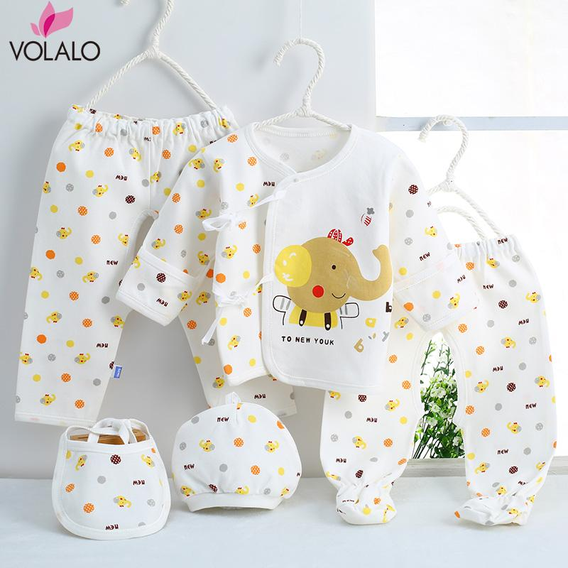 (5pcs/set)Newborn Baby Clothing Set Baby Boy/Girl Clothes 100% Cotton Cartoon Underwear cotton spring unisex baby clothing sets
