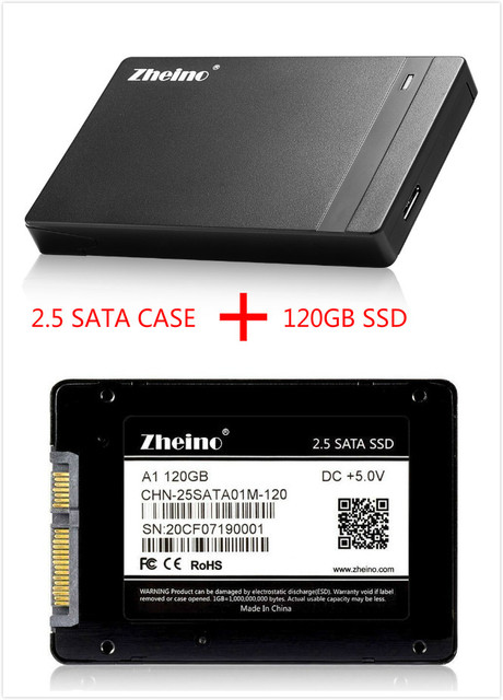 Zheino P1 USB3.0 External SSD 120GB Super Speed with 2.5 SATA Solid State Drive Replacement Of External Hard Drive Disk