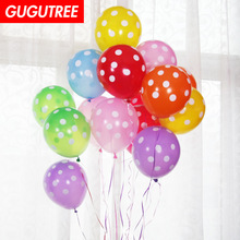 Decorate 100pcs 12inch green pink red dot latex balloons wedding event christmas halloween festival birthday party HY-352
