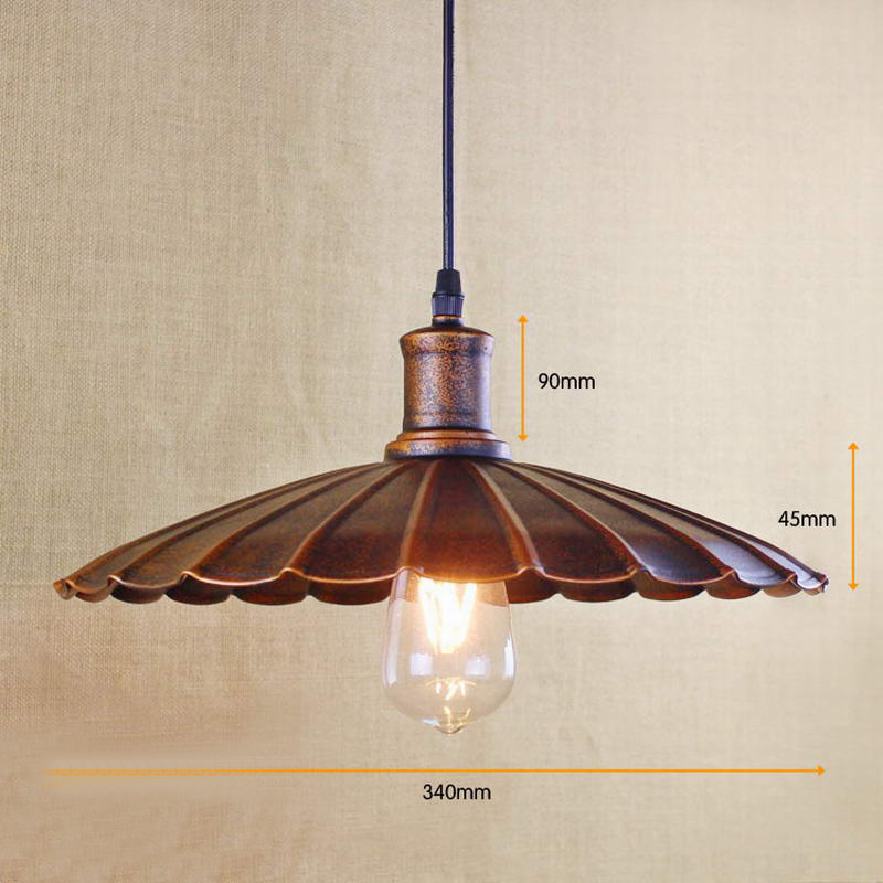 Retro Pendant Lamp /Edison Simple Vintage Metal Cover Lamp
