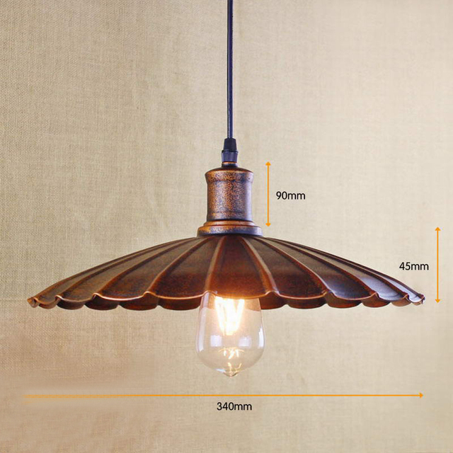 US $55.55 |retro pendant lamp /Edison Simple vintage metal cover lamp For  Kitchen Lights Cabinet Living/dining room shop/coffee shop/office-in  Pendant ...