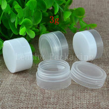 3g X 100 Empty skin care cream jar ,small sample containers ,Mini travel bottles set ,Pharmaceutical bottle ,balm plastic pot(China)