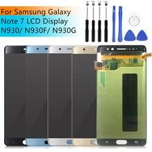 Para Samsung Galaxy Note Fan Edition LCD N935FD pantalla MONTAJE DE digitalizador con pantalla táctil para Samsung nota FE Nota de lcd 7 N930