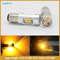 T25 1156 1157 P21W PY21W P21/5W Rear Turn Signal Light High Power 21SMD 2835 Yellow/Red/White LED Projector Len Car Styling