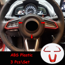 цена на For Mazda 3 Axela / Mazda CX5 CX-5 2017-2020 ABS Plastic Car Steering wheel Button frame Cover Trim Car styling Accessories