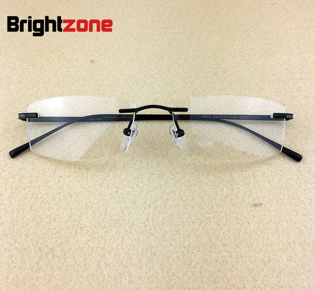 Male Fund Frame Concise Male Myopia Glasses Double Titanium Nail Go ...