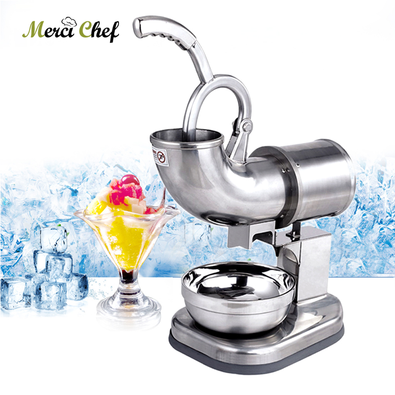 ITOP Ice Crusher Machine Electric Commercial Use 110V Snow Maker Stainless Steel Food Machine Smoothie Blender One Year Warranty hand driven ice crusher commercial and home use crushed ice machine zf