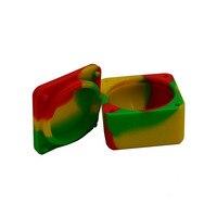 2 conjunto 37 ml de Silicone recipiente cera Dab óleo butano slick cera jar + 2 pc Bho Escultores Dabber ferramenta + 2 pc Silicone Baking Mat dab almofadas