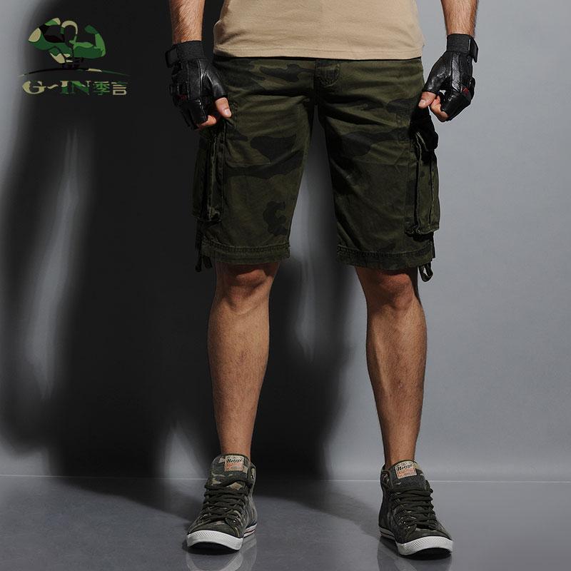 2015 sommer herren armee fracht arbeit lässig bermuda shorts - Herrenbekleidung - Foto 3