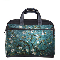 Green tree laptop bag luggage pass through tablet case tote for macbook /acer/ lenovo 15.6 17.7