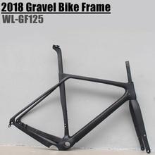 2018 гравия велосипед заготовка рамы тормоз полный углерода гравия раме велосипеда 700 * 40c 142*12 Размер s/m/l/XL для велокросса, шоссейный велосипедная Рама