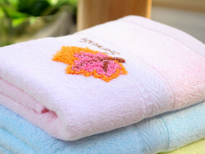 Free Shipping Bamboo Fiber Towel Embroidered Towel Face Towel F0002