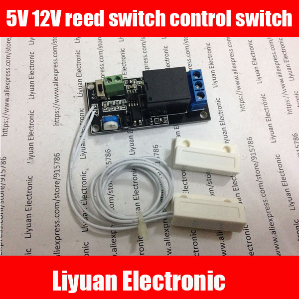 5pcs Magnetic relay module 5V12V reed switch control switch