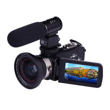 New Hot 4K WiFi Ultra HD 1080P Digital Video Camera Camcorder DV with Lens+Microphone(China)