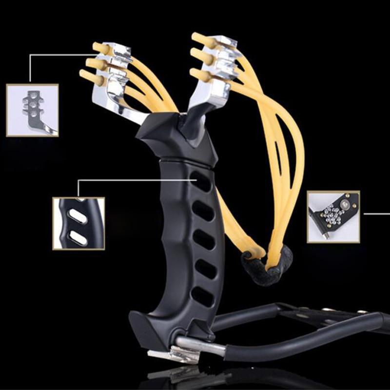 Faixas de Borracha Jogos ao ar Novo Dobrável Pulso Estilingue Catapulta Livre Poderosa Besta Caça Arco Seta Ferramentas Tiro 3