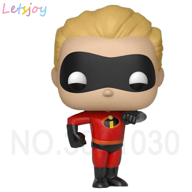 Official pop horse action figure Incredibles 2 I'm superman family Super Dad Mom sister brother baby Elastigirl vinyl doll gift
