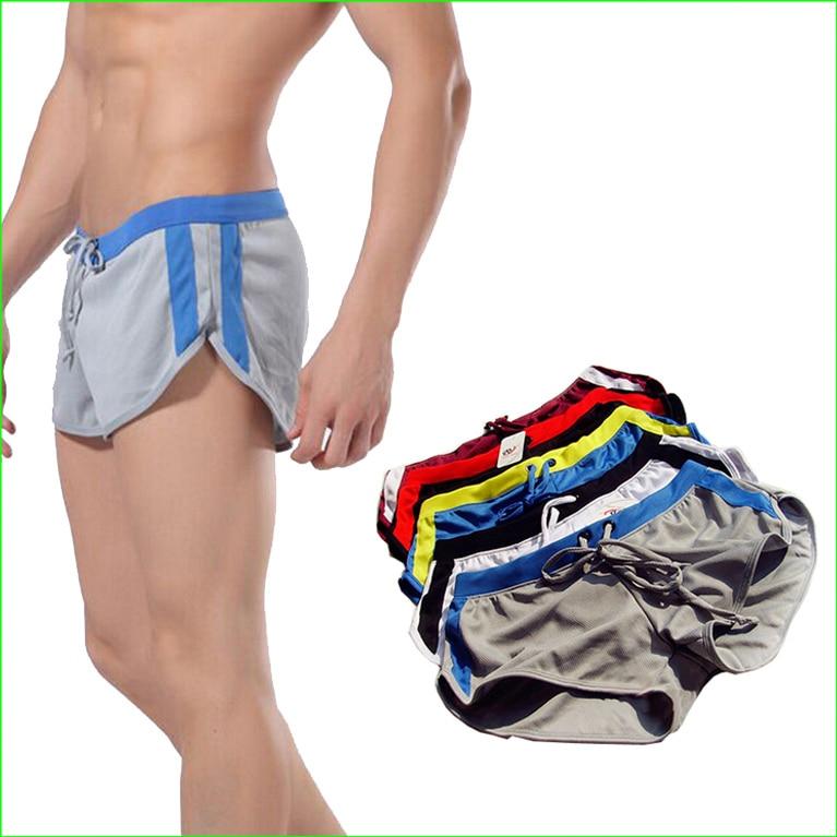 MRS03 Hot Sports Men Polyester Rychleschnoucí běžecké kraťasy Summer Beach Sexy šortky