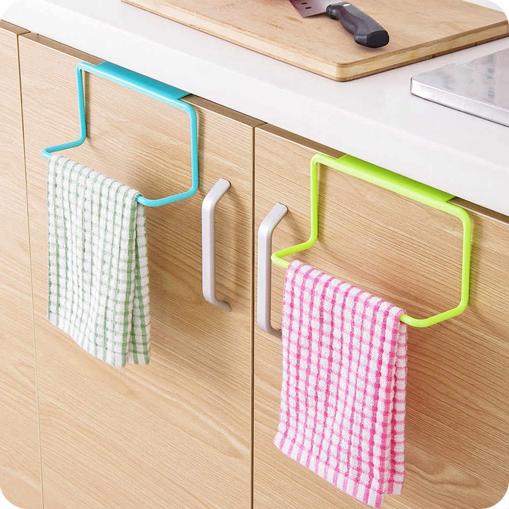 ผ้าเช็ดตัวแขวนผู้ถือOrganizerห้องน้ำห้องครัวตู้Hanger Holdผ้าขนหนูทำความสะอาดrags cocinaแขวนmutfak