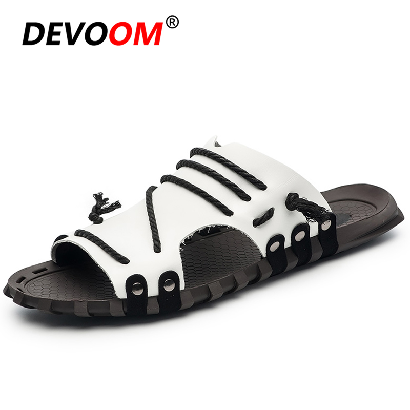 2019 Fashion Teenslippers Mannen Men Slides Summer Flip Flops Slippers Heren Summer Sandals Men Mens Slippers Home Shoes Size 47