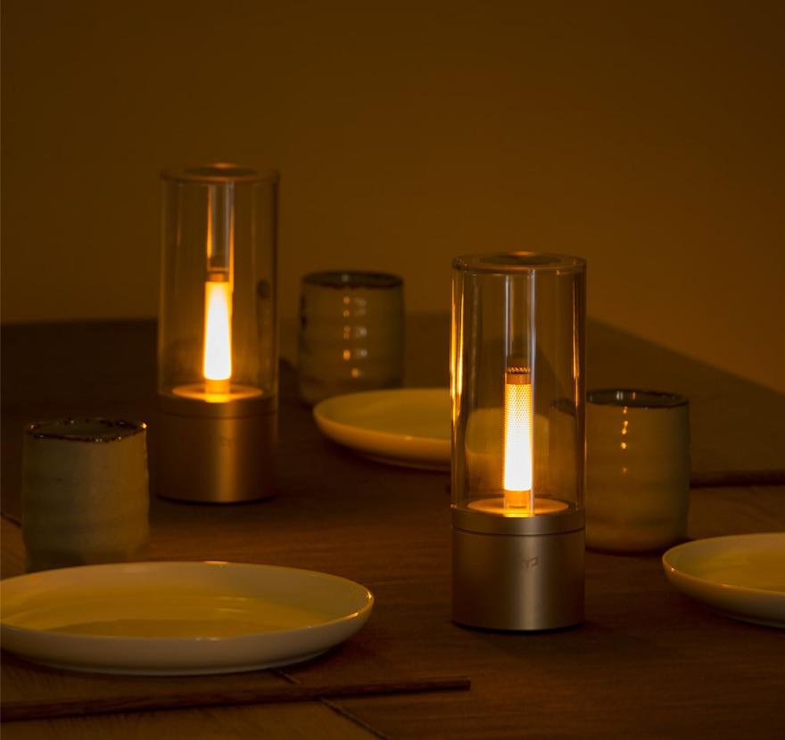 Xiao mi Yeelight Controle Inteligente Levou Noite um Jantar À Luz de Velas Romântico Cama Lâmpada mi jia Presente de Aniversário para o Amigo de Menina mi Casa App - 4