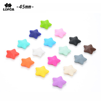 Wholesale New Fashion Jewelry Top Quality Star (45mm) Loose Beads For Food Grade Silicone Teething Necklace Silicone Loose Beads