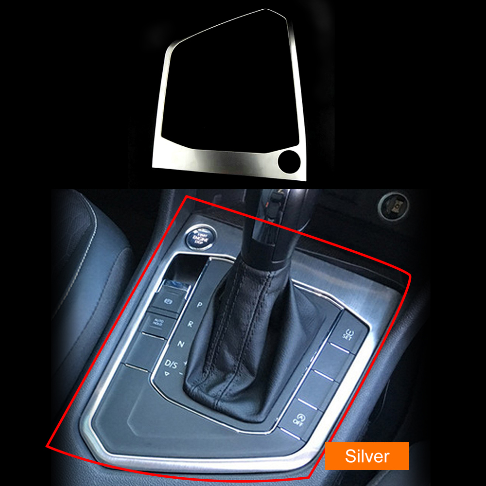 Gear Panel Frame For Volkswagen Tiguan L 2017 Auto Gear Shift Knob Sticker Console Gear Panel Frame Car Interior Accessories in Interior Mouldings from Automobiles Motorcycles