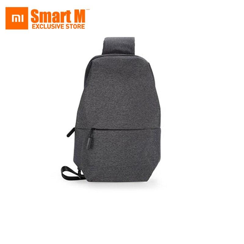 Nouveau Xiao mi mi sac à dos urbain loisirs poitrine Pack sac pour hommes femmes petite taille épaule Type unisexe sac à dos sacs couleur