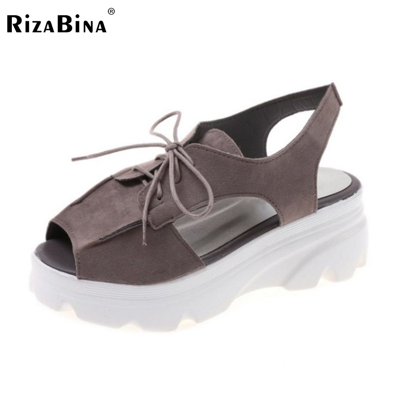 Women High Wedges Sandals Peep Toe Leisure Shoes Women's Cross Strap Hollow Trifle Sandals Preppy Chic Lady Footwear Size 35-39