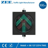 12 Inches 300mm LED Traffic Light Parking Red Cross And Green Arrow Lot Toll Station Entrance