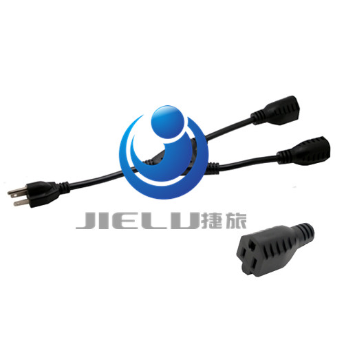 5-15P to 2x5-15R,USA 3Pin Male To Dual Female Power Adaptor cable,Power Adapter cable, Y-Splitter,10 pcs 1pcs 5 5 x 2 1mm jack male to 5 5mm x 2