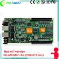 HD-A30 rgb полный цвет p3 p4 p5 p6 p8 p10 помещении на открытом воздухе светодиодный дисплей контроллера/большой светодиодная вывеска контрольная карта USB WAN