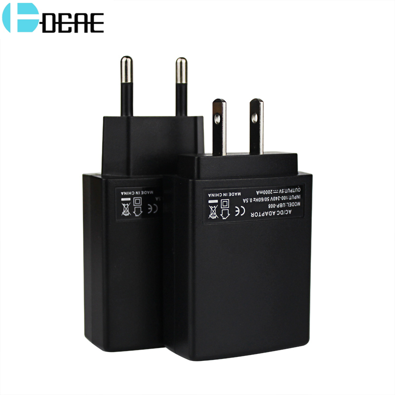 DCAE USB Charger For Mobile Phone Battery Charger 2A Fast Charge Adapter Travel Wall Charger For iPhone iPad Samsung Xiaomi
