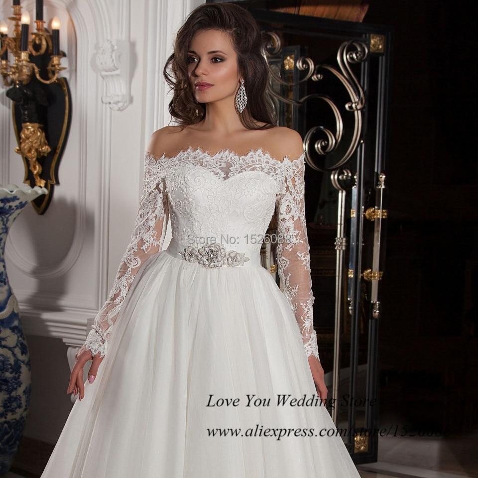 Vestido de manga longa casamento