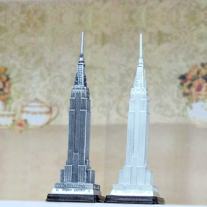 The Skyscrapers of New York Empire State Building Ornaments Resin Handicraft Landmark Model of Tourist Souvenirs home decor gift