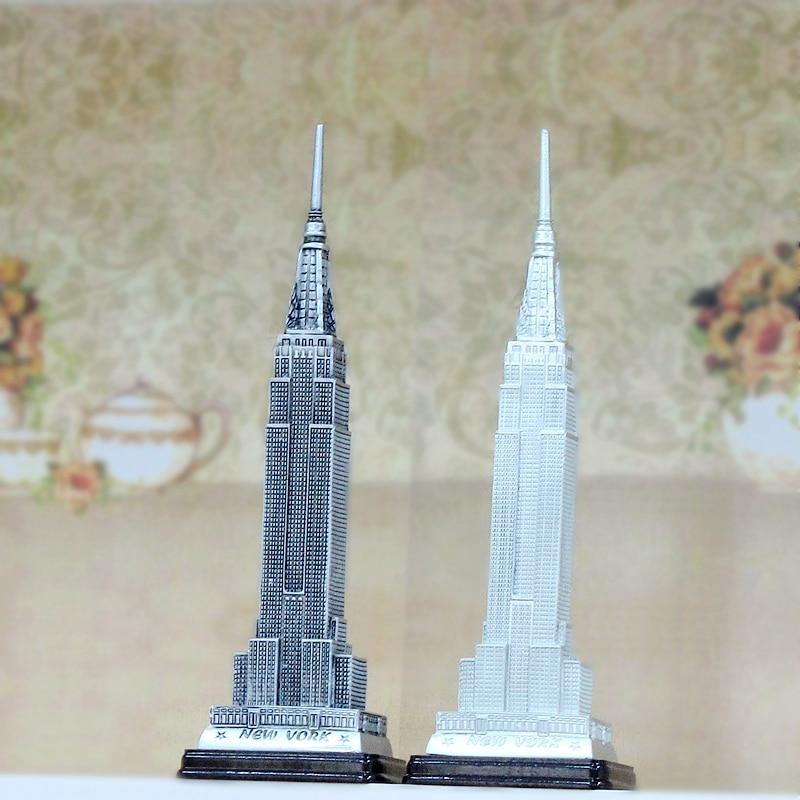 Skyscrapers Of York Empire State Building Ornaments Resin Handicraft Landmark Model
