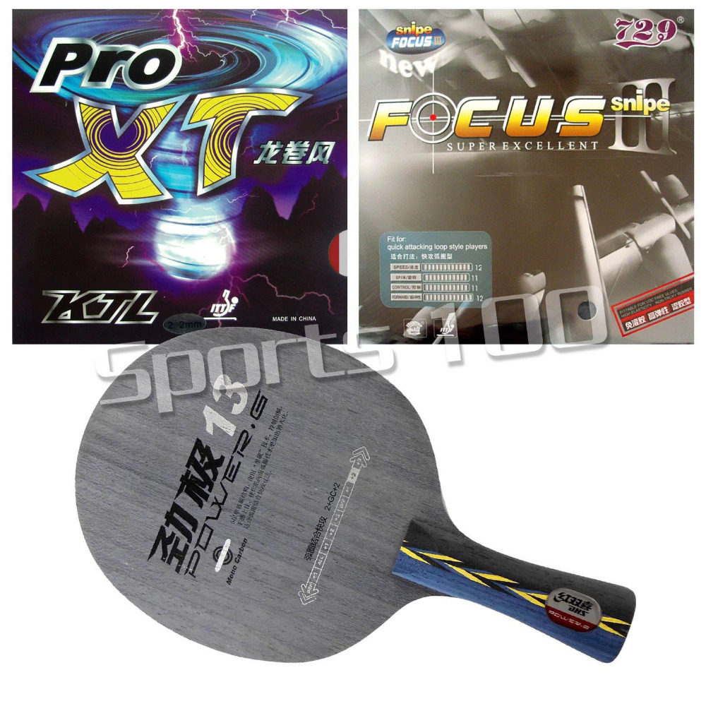 ФОТО Pro Combo Racket DHS POWER.G13 PG13 PG.13 PG 13 Blade with KTL Pro-XT and 729 FOCUS III Rubbers