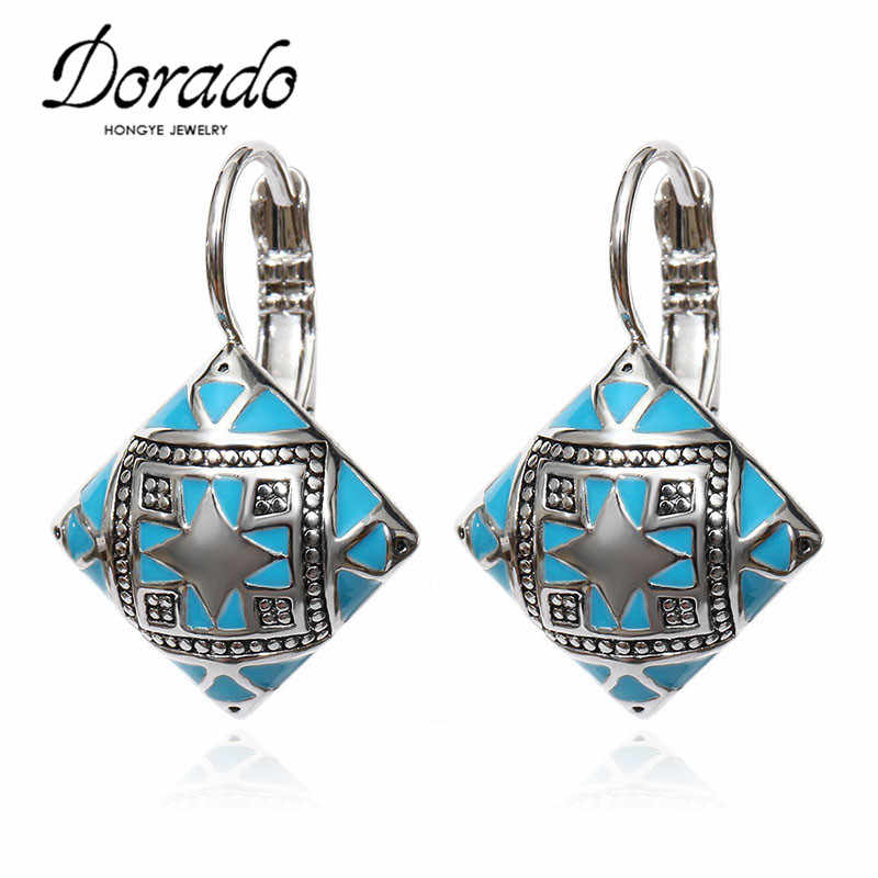 Black Blue Orange Resin Square Drop Earrings For Women Rose Gold Silver Color Female Dangle Hanging Earring Ear Jewelry Brincos