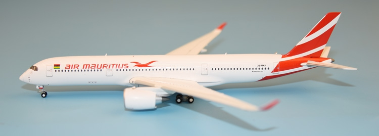 new GeminiJets 1: 400 GJMAU1604 Mauritius A350-900 3B-MKA Alloy aircraft model Collection model Holiday gifts fine special offer jc wings 1 200 xx2457 portuguese air b737 300 algarve alloy aircraft model collection model holiday gifts