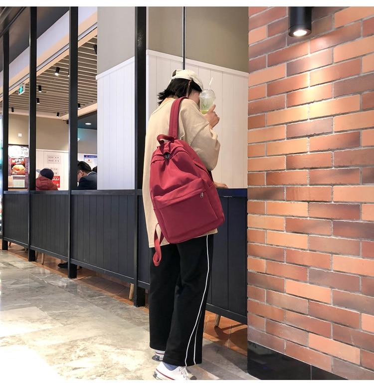 HTB134vQXy 1gK0jSZFqq6ApaXXau 2019 Backpack Women Backpack Solid Color Women Shoulder Bag Fashion School Bag For Teenage Girl Children Backpacks Travel Bag